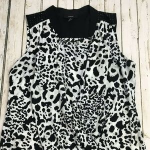 Alfani Womens Black And White Wrap Animal Print